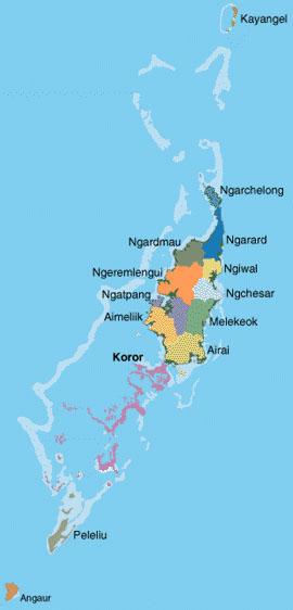 States Palau National Government - Palau map